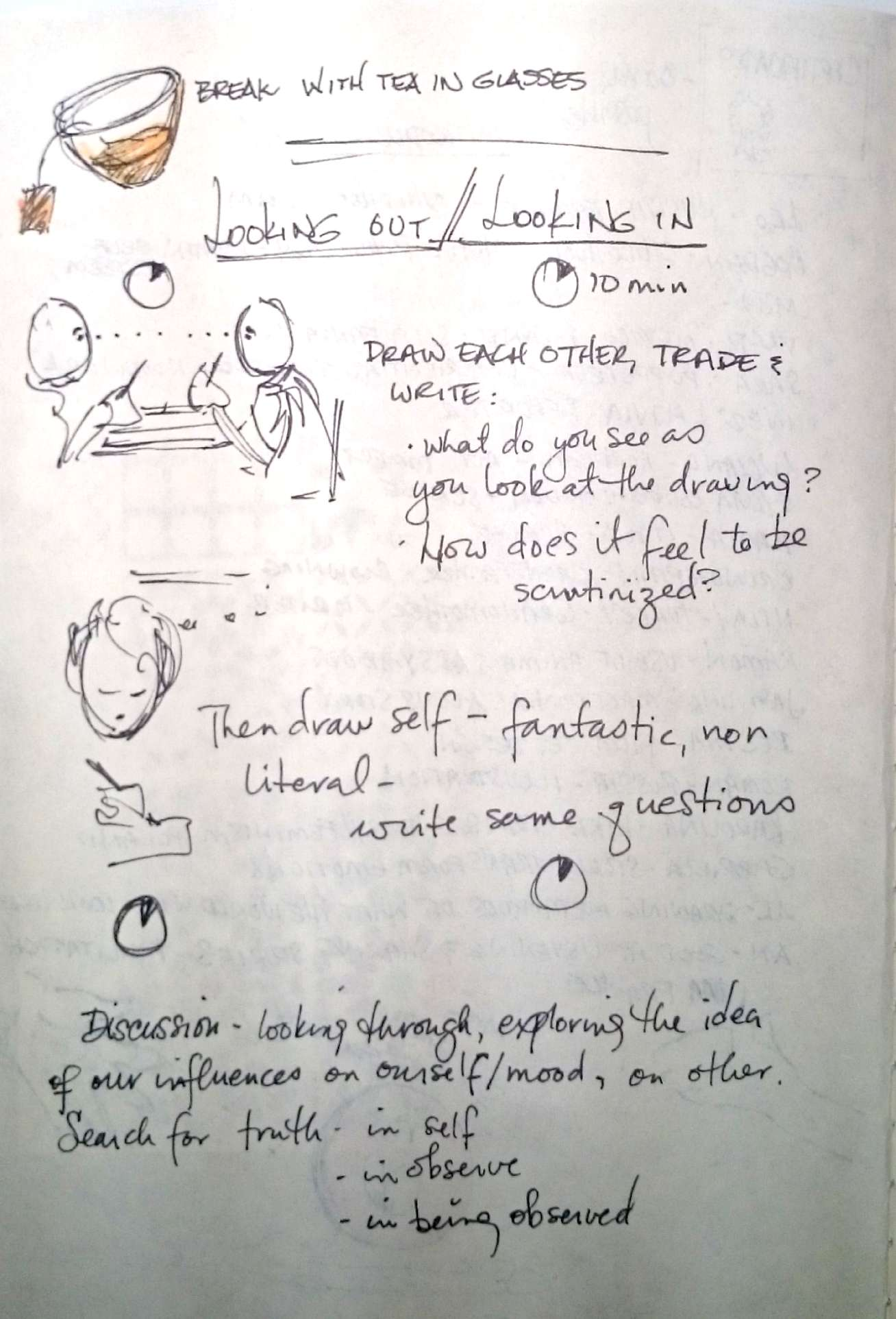 Journal page of workshop in France.