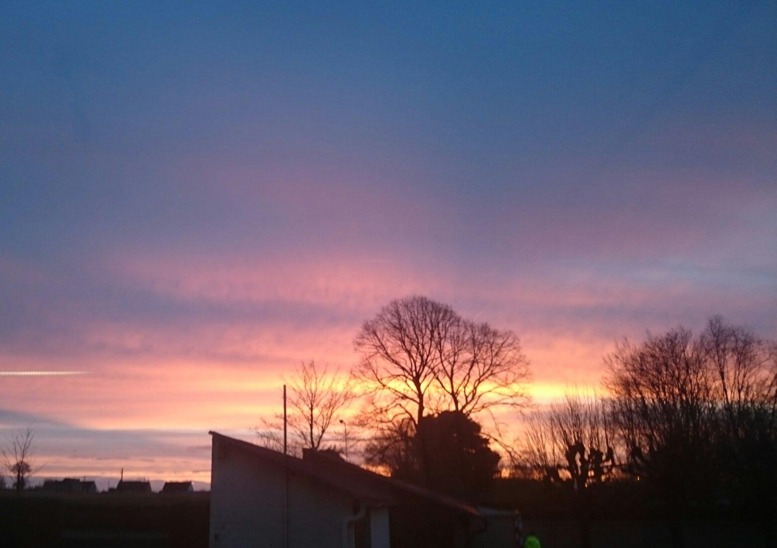Sunset in Rural France.