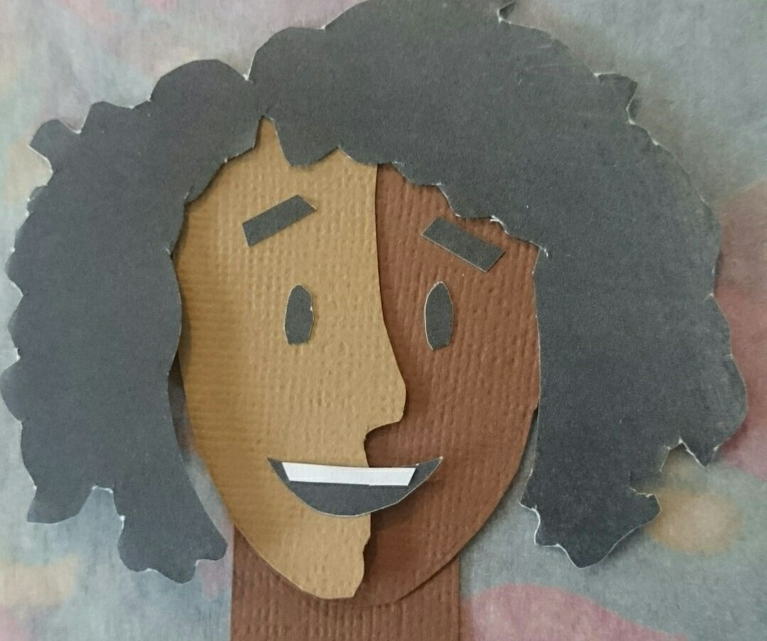 Cut paper animation character